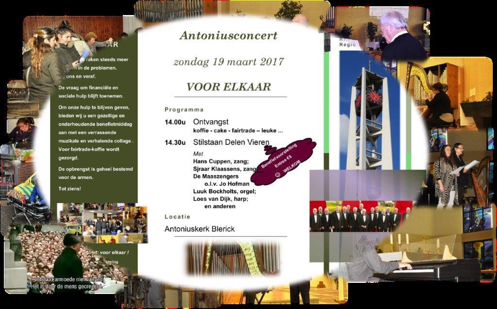 Wist u van het Antonius-concert op 19 maart?